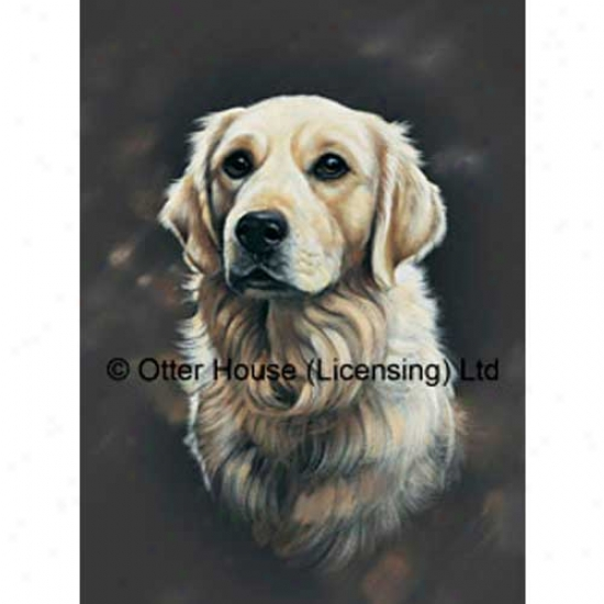Golden Retriever Garden Flag By Pollyanna Pickering