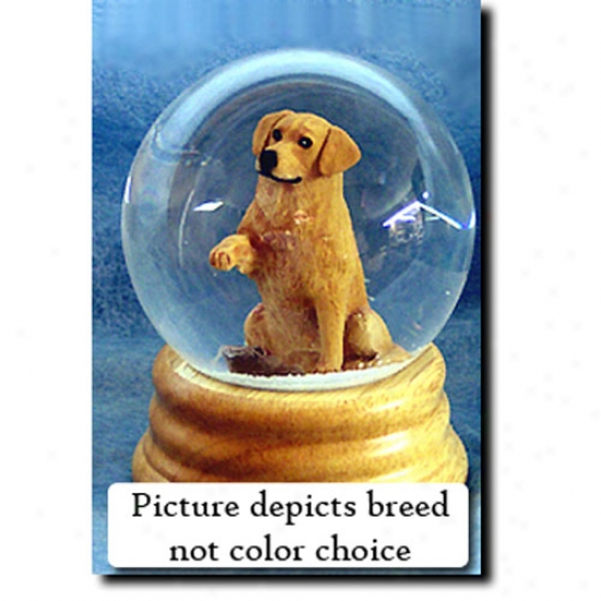Golden Retriever (light) Musical Snow Globe