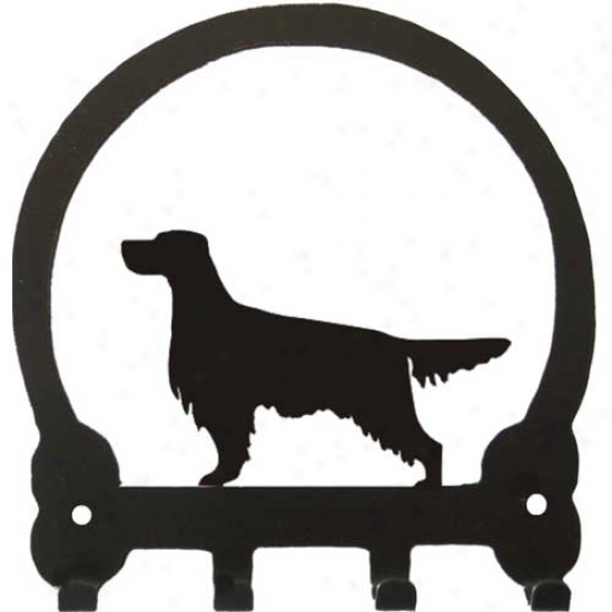Gordon Setter Key Rack By Sweeney Ridge