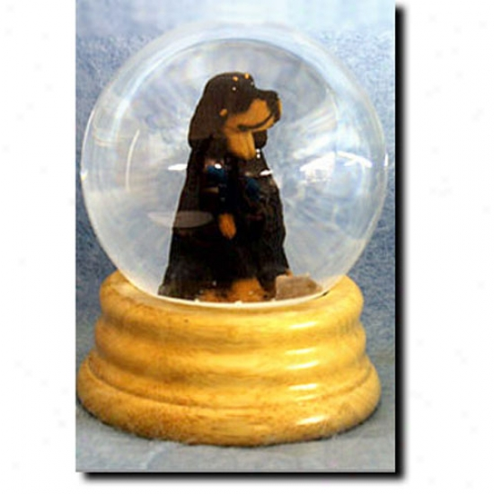 Gordon Setter Musical Snow Globe