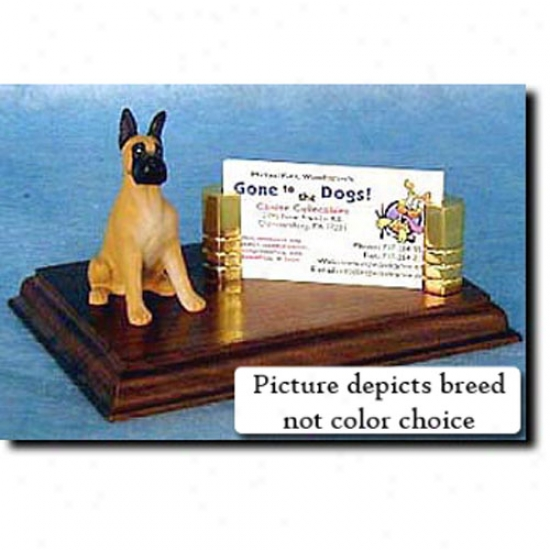 Great Dane (brindle) Business Card Holder