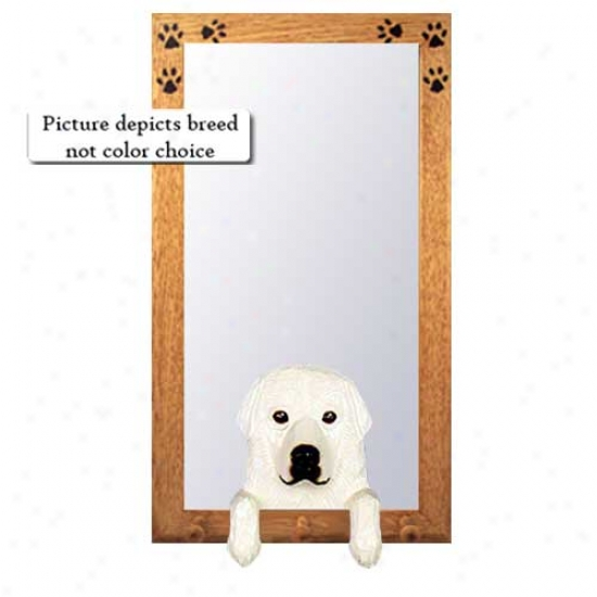 Great Pyrenees Hall Mirror With Oak Golden Form