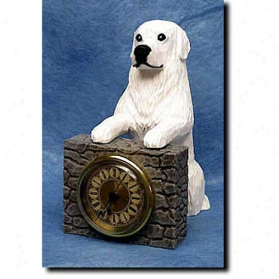 Great Pyrenees Mantle Clock