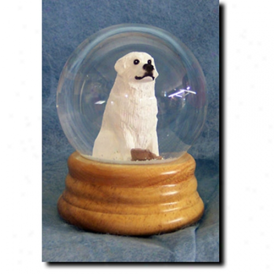Great Pyrenees Musical Snow Globe