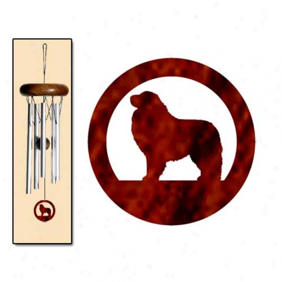 Great Pyrenees Wind Chimes X-small Silver