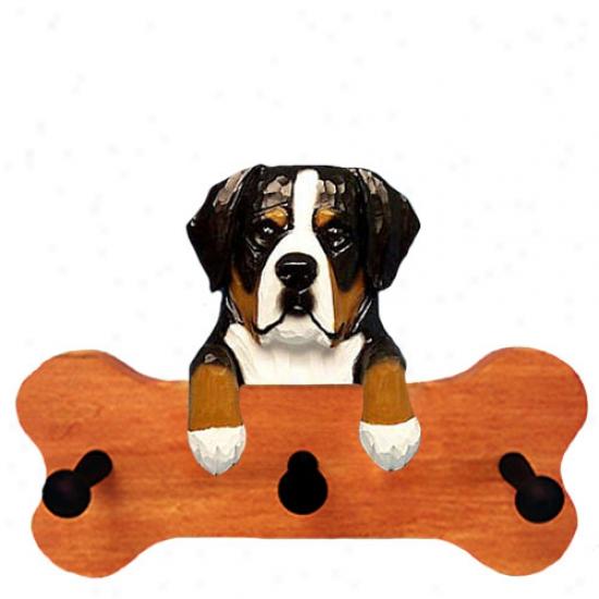 Greater Swiss language Mountain Dog Bone Hang Up Maple Finish
