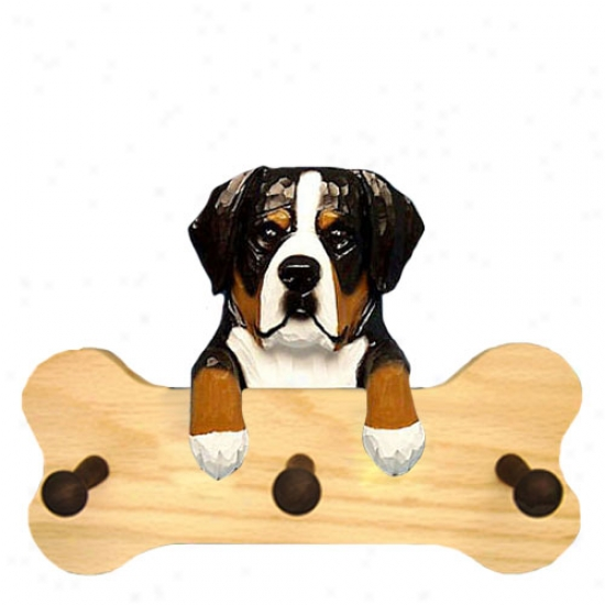 Greater Swiss Mountain Dog Bone Hang Up Natural Oak