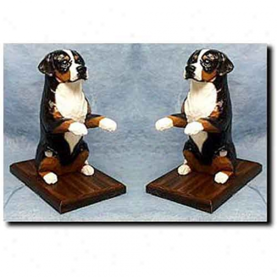 Greater Swiss Mountain Dog Bookends