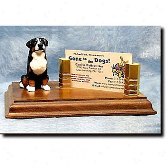 Greater Switzer Mountain Dog Business Card Holder