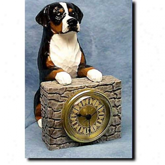 Greater Swiss Mountain Dog Mantle Clock