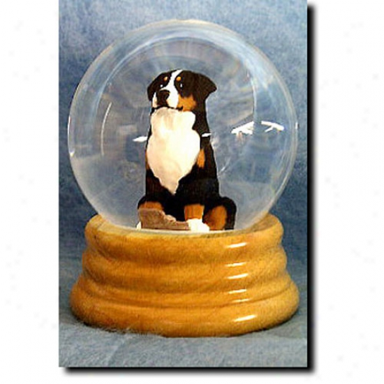 Greater Swiss Mountain Dog Musical Snow Globe