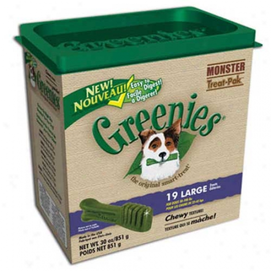 Greenies Monster-pak 27oz Canister, Petite (for Dogs 15-25lbs)