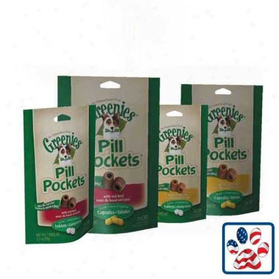 Greenies Pill Pockets For Capsules Chicken 7.9oz Bag