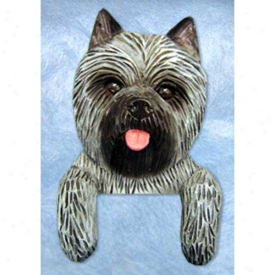 Grey Cairn Terrier Door Topper