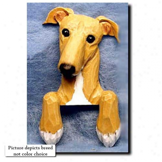 Grey Greyhound Door Topper