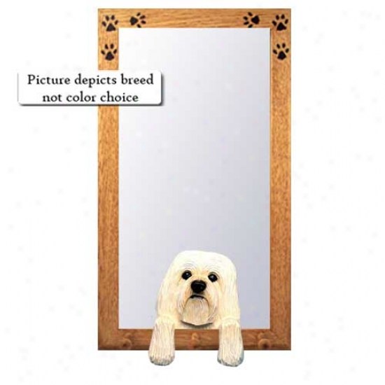 Grey Havanese Hall Mirror With Basswood Plne Frame