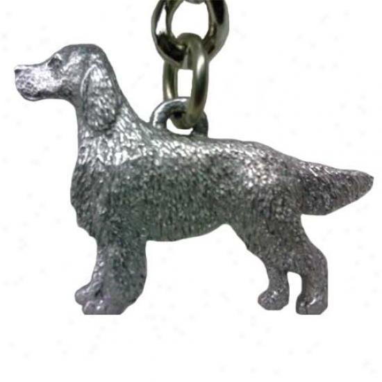 Greyhound George Harris Pewter Keychain