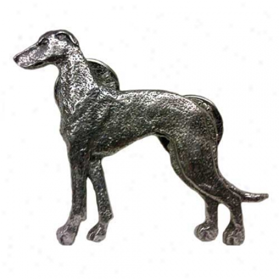 Greyhound Pewter Pin