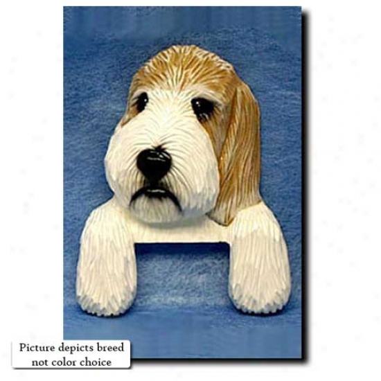 Grizzle And White Petit Basset Griffon Vendeen Door Topper