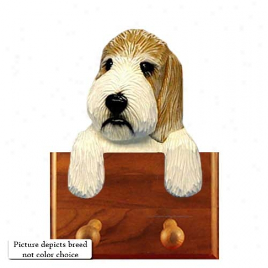 Grizzle And White Petit Basset Griffon Vendeen Tie Holder