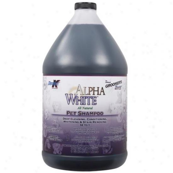 Groomers Edge Alpha White Shampoo Gallon Boil down 32:1