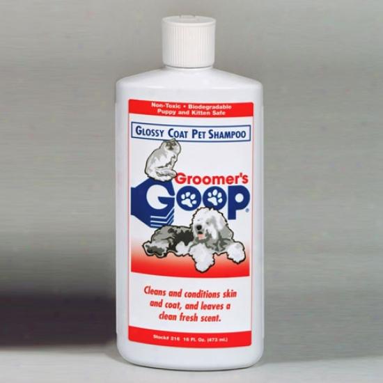 Groomers Goop Glossy Coat Pet Shampoo 16 Ounce Bottle