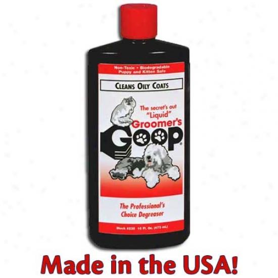 Groomers Goop Liquid For Oily Coats, 16 Ounce Squeeze Bottle