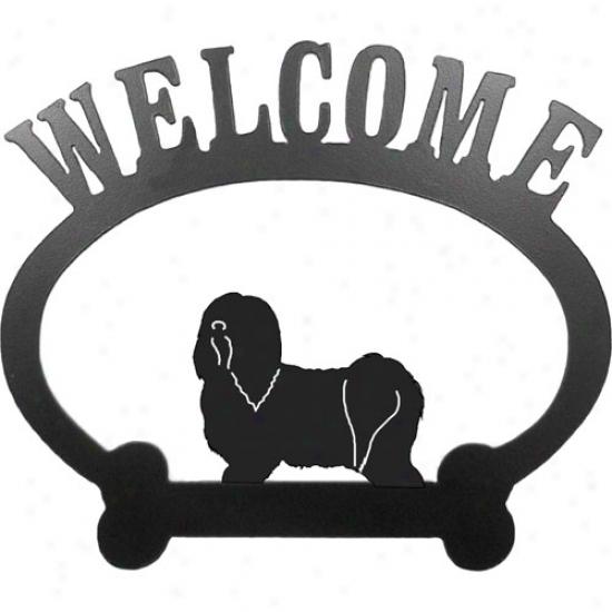 Havanese Welcome Sign By Sweeney Ridge