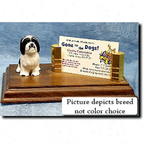 Havanese (white) Business Card Holder