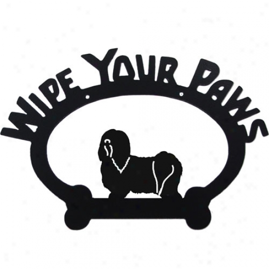 Havsnese Wipe Your Paws Sign By Sweeney Ridge
