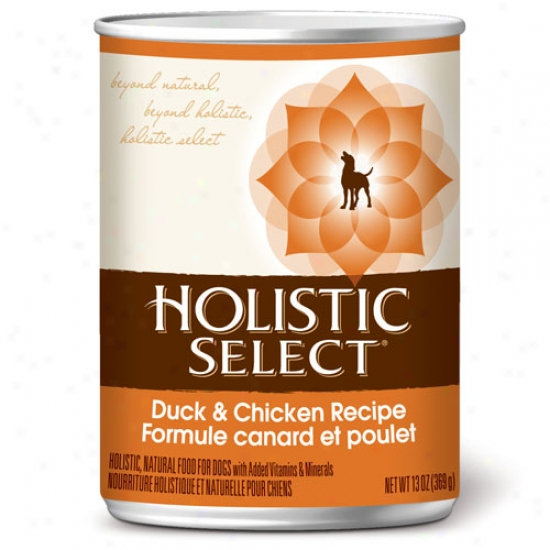 Holistic Select Duck And Chicken Dog Food Case Of 12 13.2oz Cans