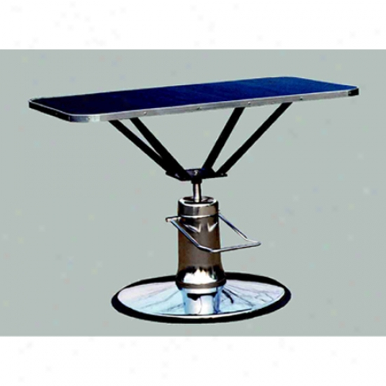 Hydraulic Table 24 X 36 Top / Round Base - Champagne (oversized)