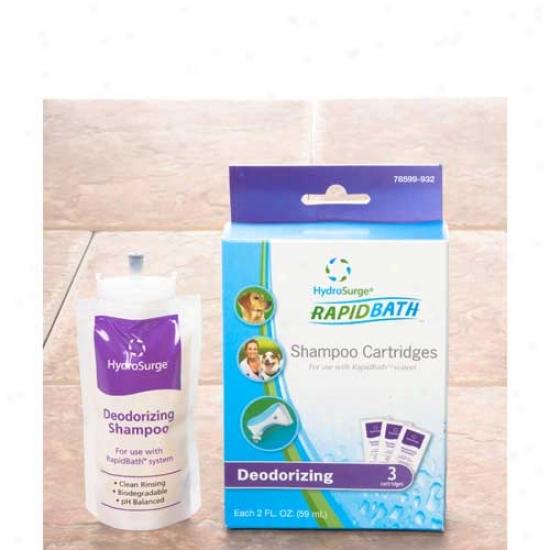 Hydrosurge Rapid Bath Deodorizing Animal Shampoo Cartridge 3 Pack