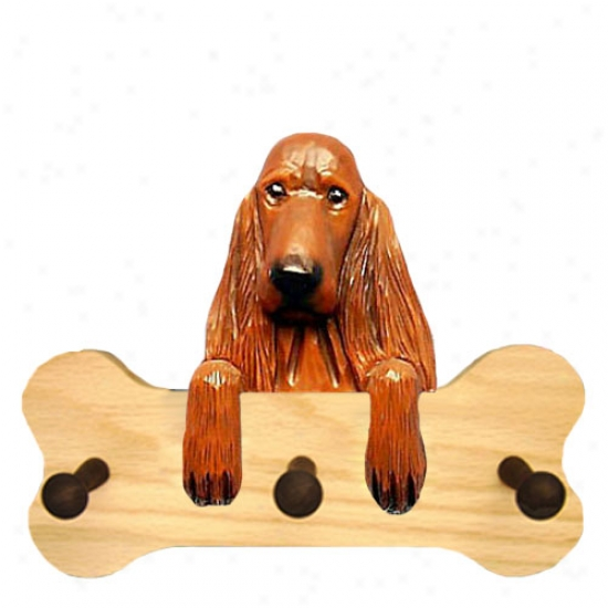 Irish Setter Bone Hang Up Natural Oak