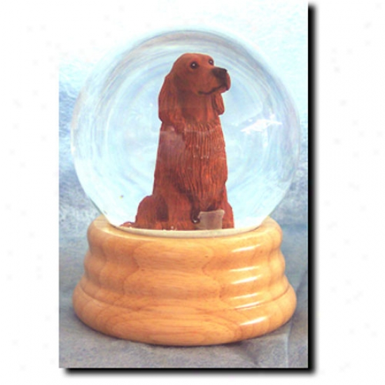 Irish Setter Musical Snow Globe