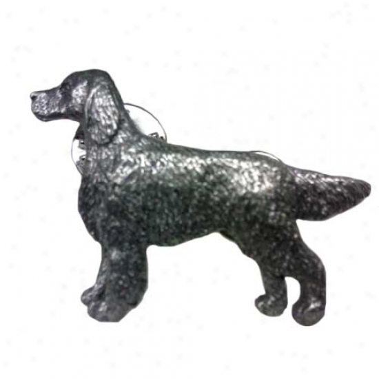 Irish Setter Pewter Pin
