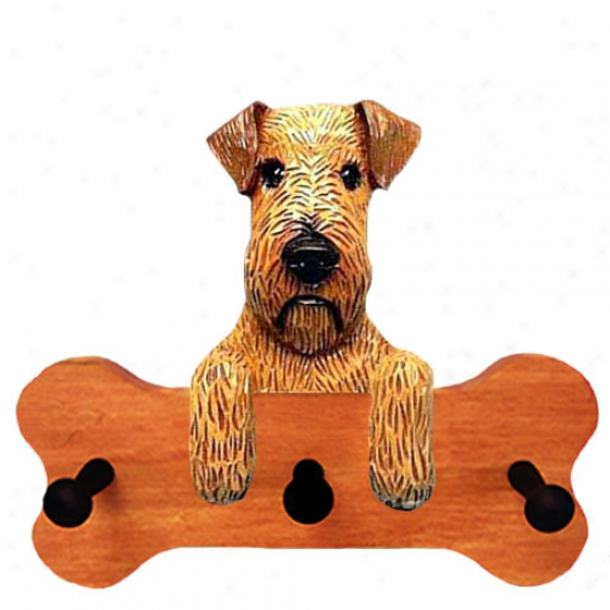 Irish Terrier Bone Hang Up Maple Finish