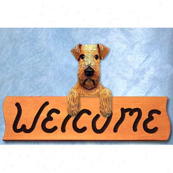 Irish Terrier Welome Sign Maple