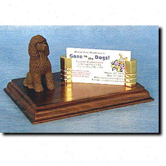 Irish Water Spaniel Business Card Holdre