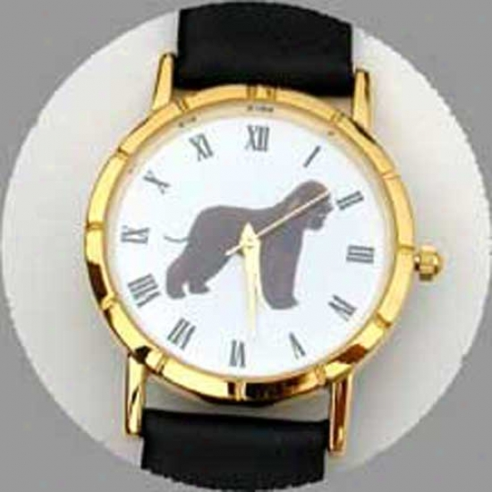 Irish Water Spaniel Watch - Small Face, Black Leather