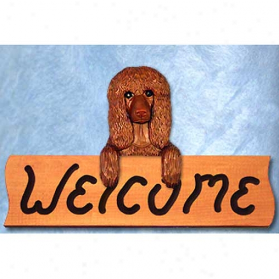 Irish Water Spaniel Welcome Sign Maple
