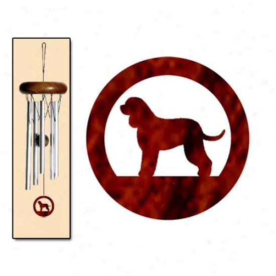 Irish Water Spaniel Wind Chimes X-small Silver