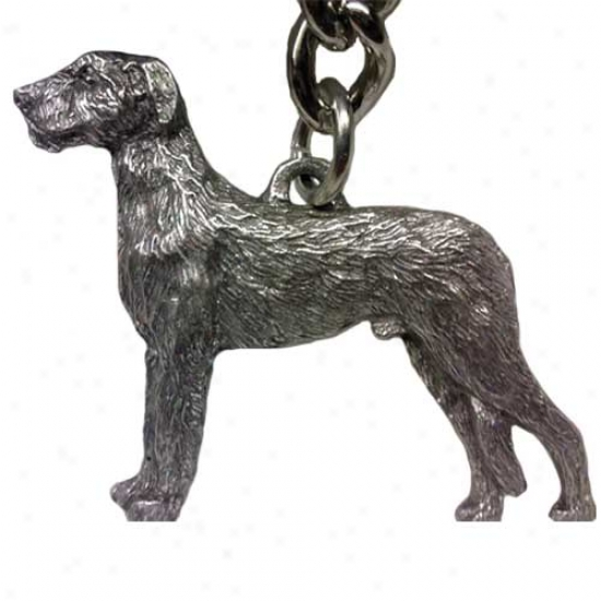 Irish Wolfhound George Harris Pewter Keychain