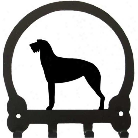 Irish Wolfhound Key Rack By Sweeney Ridge