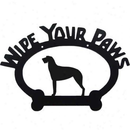 Irish Wolfhound Wipe Your Paws Decorative Sign