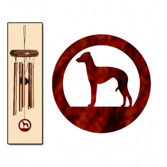 Italian Greyhound Wind Chimes X-small Bronze