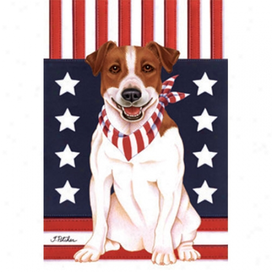 Jack Russell Patriotic Breed Flag