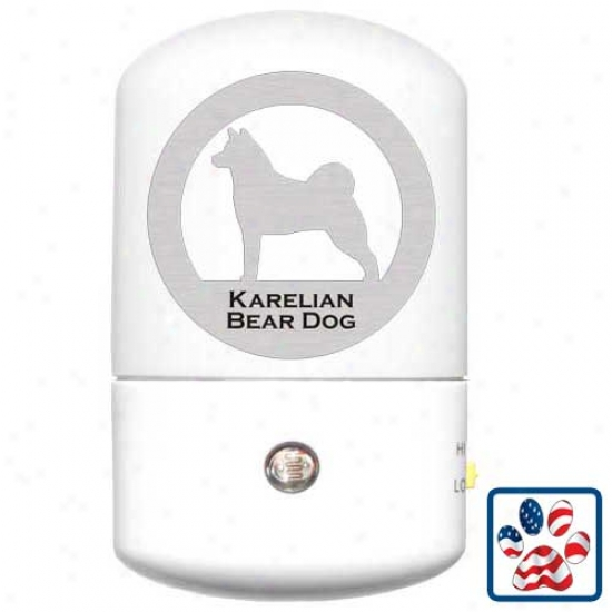 Karelian Bear Dog Led Night Light