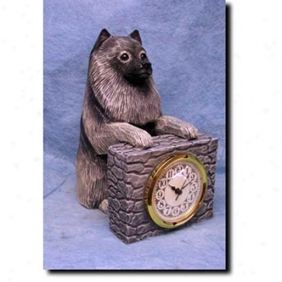 Keeshond Mantle Clock