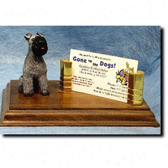Kerry Blue Terrier Business Card Holder